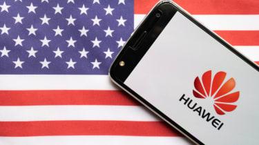Huawei USA flag