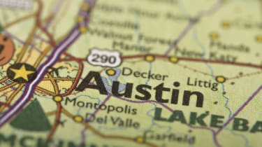 Austin texas on a map