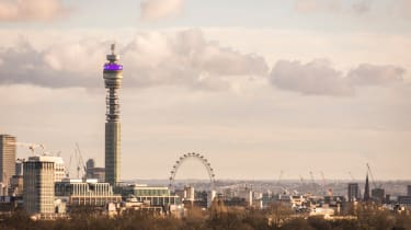 The BT Tower in London, UK