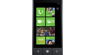 The Start screen on Windows Phone 7