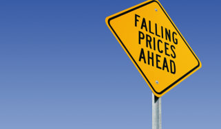 Falling prices sign