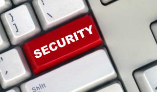 Security button on computer keyboard
