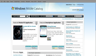 Microsoft Windows Marketplace for Mobile screengrab