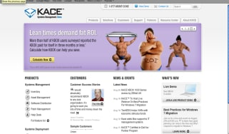 Kace website