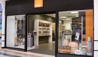 Orange store front
