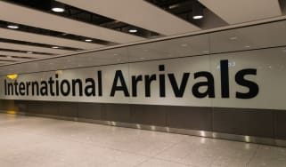 Airport arrival area