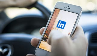 LinkedIn on a mobile device