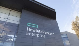 HPE building with sign
