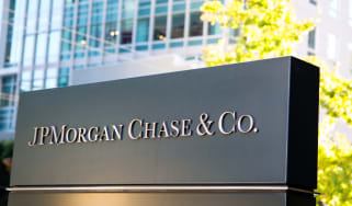 JP Morgan building sign