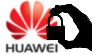 Huawei logo and padlock