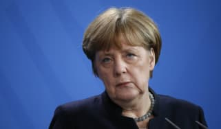 Angela Merkel not looking very happy