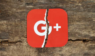 The Google Plus logo split in half