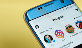 Instagram app open on phone