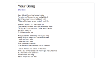 Lyrics on google screenshot