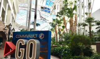 The Commvault GO logo displayed at the nashville-hosted event