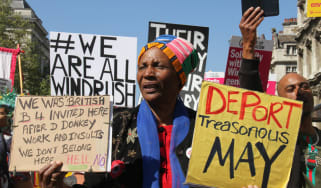 Ongoing demonstrations against the Windrush scandal