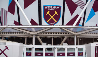 Exterior shot of West Ham's new stadium