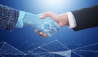 AI business handshake