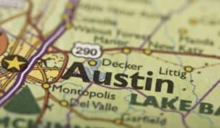 Austin texas on a map