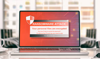 Ransomware splash screen mockup