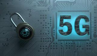5G next to a padlock