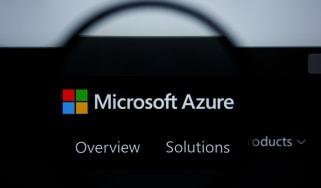 Microsoft Azure on a black background