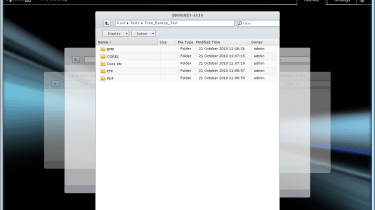 Currently in beta, the Time Backup application creates snapshots of selected volumes and stores multiple file versions.