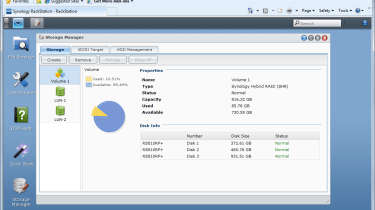 Synology's hybrid RAID allowed us to create a fault tolerant array with three drives of different capacities.