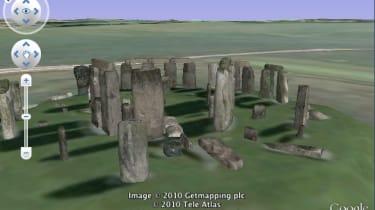 Stonehenge in Google Earth