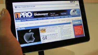 Browsing the web horizontally on the ViewPad 7