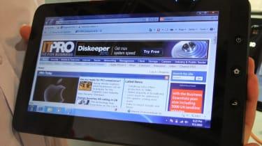 The ViewSonic ViewPad 100 running Windows 7
