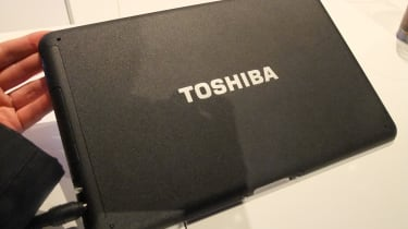 The back of the Toshiba Folio 100