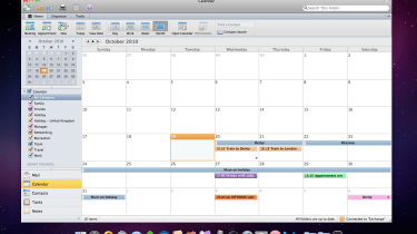 A calendar in Microsoft Outlook 2011 for Mac