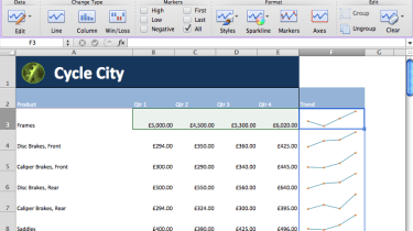 Sparklines in Microsoft Excel 2011 for Mac