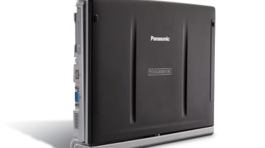 The lid of the Panasonic ToughBook CF-C1 can withstand up to 100kg of evenly distributed weight