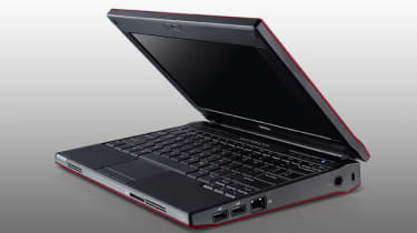 The Dell Latitude 2110 is a sturdy, but chunky netbook