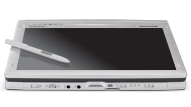 The Panasonic ToughBook CF-C1 in tablet mode