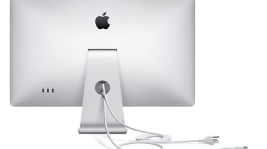 """The captive cables on the rear of the Apple LED Cinema Display (27"""" flat panel)"""