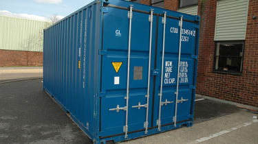 Computer Aid cyber cafe in a shipping container