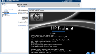 The DL380 G7 offers a slick new BIOS menu and HP's new iLO3 controller delivers faster remote control.