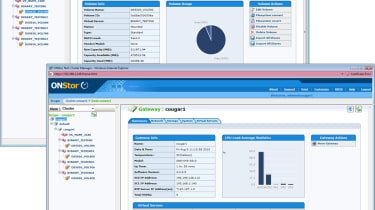 The OnStor web interface provides plenty of information about volume usage and system utilisation.