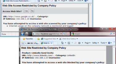 We were able to send AUP agreements to users and control what LinkedIn activities they could access.