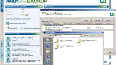 Integrating the CS800 with CA ARCserve just required its NAS shares to be declared as disk based backup devices.