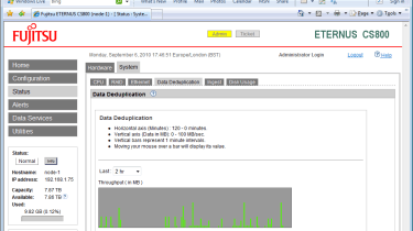 You can keep a close eye on the performance of a range of functions including deduplication progress.