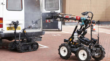 QinetiQ's robotic firefighting team