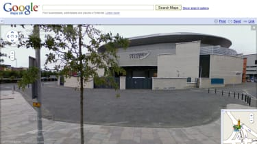 Odyssey Arena in Belfast via Street View