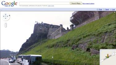 Edinburgh Castle via Street View