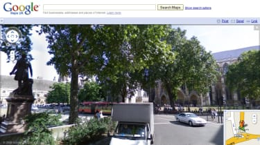 Parliament Square in London via Street View