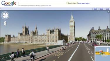 Big Ben via Street View