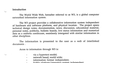 Setting the web free...